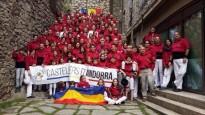 Els Marrecs de Salt, padrins dels Castellers d'Andorra dissabte