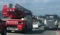 Bolca un turisme a la C-16c després de xocar amb una furgoneta