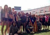 Vés a: Uns estudiants catalans exhibeixen una estelada a Mestalla i el València es queixa