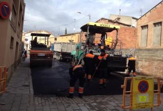 Santpedor finalitza la pavimentació de quatre carrers del nucli urbà