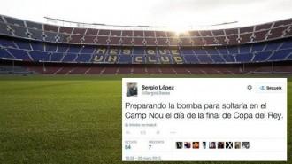 Imputen el tuitaire que volia posar una bomba al Camp Nou el 30 de maig