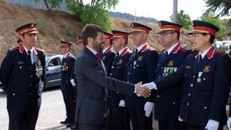 Els Mossos d'Esquadra celebren a Falset la festa del seu patró, Sant Jordi