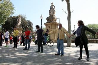 Cadena humana a Barcelona en suport als condemnats pel setge al Parlament