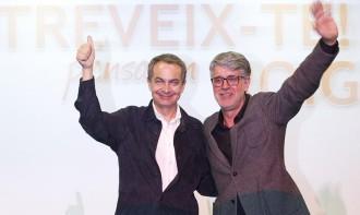Zapatero fa campanya pels socialistes ebrencs defensant l'Estatut
