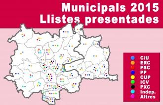 CiU i ERC copen el Bages i el Moianès de candidatures per a les municipals