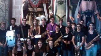 Brams i la Banda de l'Escola Municipal de Música de Solsona actuen junts a la Sala Polivalent