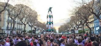 Totes les actuacions castelleres de la Diada de Sant Jordi
