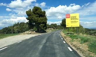 Finalitzen les obres d'asfalt de la carretera de Castelladral a Serrateix