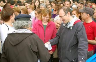 Queralt s'omple a vessar per celebrar un Sant Marc d'accent electoral