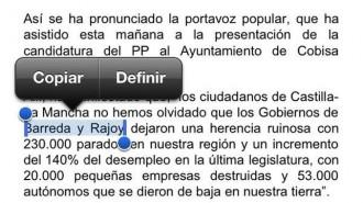 Vés a: Nou lapsus del PP: «Rajoy va deixar una herència ruïnosa»