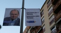 El candidat del PP a Salt proposa «solucions per a Terrassa» al seu cartell electoral