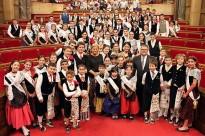 El pubillatge fa la visita oficial al Parlament