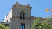 La JNC penja una estelada a la Paeria de Lleida