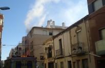Incendi amb un ferit en un àtic del carrer de Galileu de Terrassa