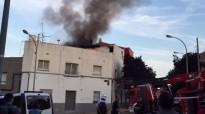 Vídeo d'un incendi a Terrassa