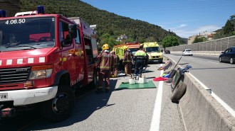 Vés a: Dos ferits, un d'ells greu, en un accident de trànsit a la C-17 al Figaró-Montmany