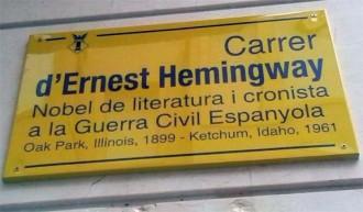 Carrer d'Ernest Hemingway