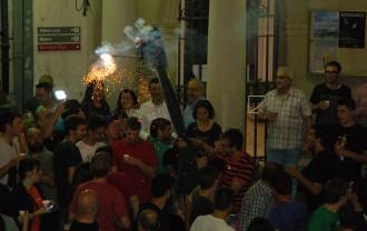 El primer fuet de Patum peta a Sant Pere durant el Cap d'Any patumaire