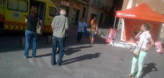 Un candidat de Ciutadans, agredit mentre muntava la parada a Manresa