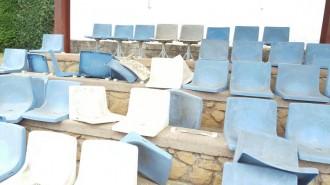 Polèmica a Tremp per l'estat del camp de futbol Pedrasanta