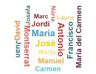 Quins són els noms més freqüents de la població a Catalunya?