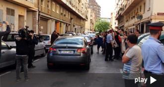 Escridassen i colpegen el cotxe del ministre de l'Interior espanyol a Reus