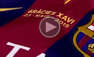 La samarreta per homenatjar Xavi ja és a punt als vestidors del Camp Nou