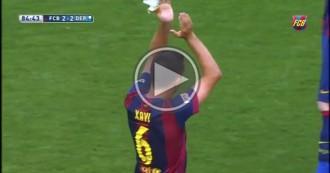 Així ha estat la substitució de Xavi Hernández i el comiat del Camp Nou