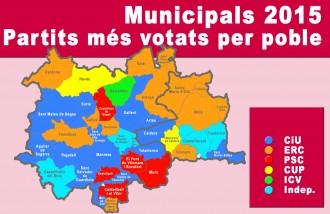 CiU i ERC es reparteixen majories al Bages i el Moianès