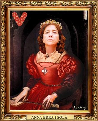 Anna Erra ja té el seu retrat de vigatana il·lustre