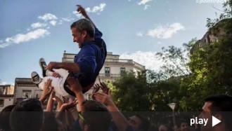 Els Castellers de Berga fan bullir l'olla per la Diada dels Quatre Fuets