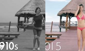 Així han canviat els banyadors de noia durant els últims 100 anys [VÍDEO]