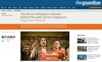 Vés a: The Guardian: «El vot independentista ha guanyat les eleccions a Catalunya»