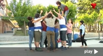 Alumnes dels instituts de Terrassa actuen a la Diada del Patrimoni