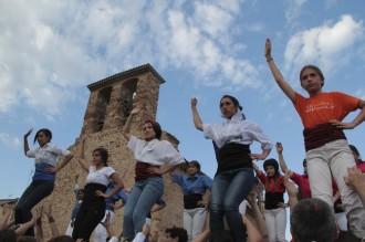 Les imatges del taller de castells per la Diada del Patrimoni