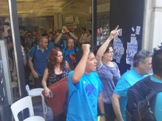 Els treballadors subcontractats de Movistar abandonen l'ocupació