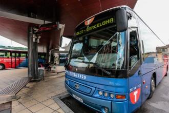 Olot demana que es dobli la freqüència de busos cap a Barcelona i Girona
