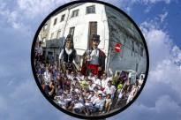 Els gegants animen les festes de Sant Joan i els Elois de Prats de Lluçanès