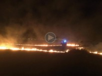 VÍDEO Un incendi crema tres hectàrees a l'Alt Empordà