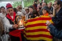 La Flama del Canigó encén avui les fogueres d'arreu dels Països Catalans