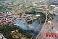 Un incendi crema una hectàrea a  Blanes