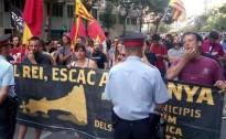 Prop d'un centenar de persones xiulen a Girona en contra de Felip VI