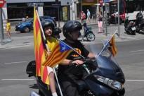 Imatges dels 'Motards' independentistes a Terrassa