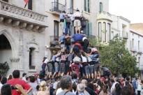 L'assaig dels Minyons de Terrassa per la Festa Major, en imatges