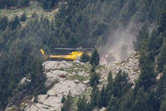 Els Bombers rescaten amb helicòpter una dona de 70 anys a Núria