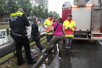Dues noies, rescatades al riu Güell a Girona