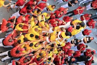 Els Castellers de Solsona celebren el 4t aniversari amb un 3d6 per sota