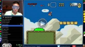 Un jugador amb els ulls embenats supera el «Super Mario World»