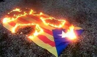 Vés a: El número dos del PP a Valls publica una imatge d'una estelada en flames