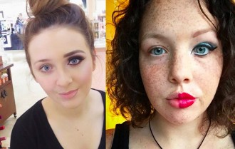 La nova moda de maquillar-se només mitja cara [FOTOS]
